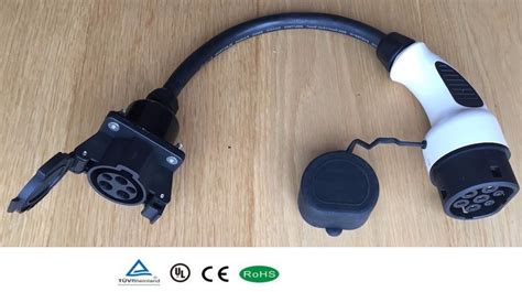 J1772 Connector Ev Car Charger Type 1 To Type2 Adapter
