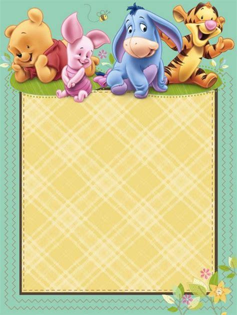 classic winnie  pooh baby shower invitations printable