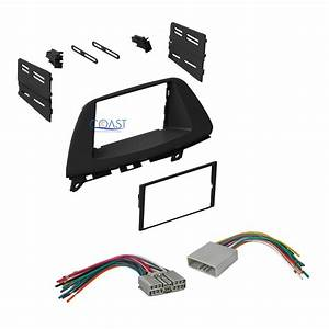 Single Double Din Car Stereo Dash Kit Wire Harness For