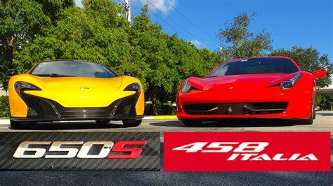 Mclaren Mp4 12c Vs Ferrari 458 Italia At The Drag Strip