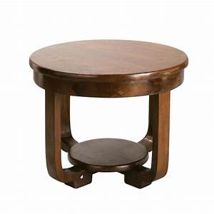 solid teak round coffee table d 60cm charleston maisons With unfinished round coffee table