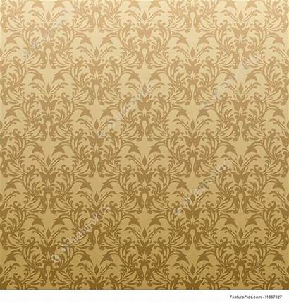 Floral Golden Gold Background Gothic Abstract Patterns