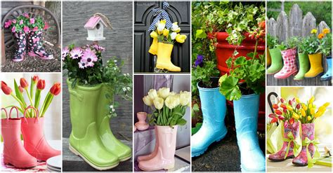 20 Gorgeous Rain Boots Planter Ideas That You Will Love