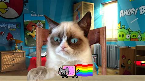 "Вынос мозга! ""grumpy Cat Vs Nyan Cat"" Youtube"