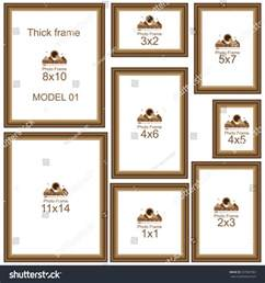 5x7 wedding photo album popular picture frame sizes wood border stock vector