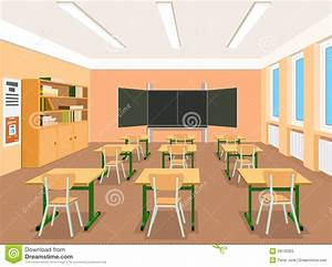 Illustration Of An Empty Classroom Stock Vector ...