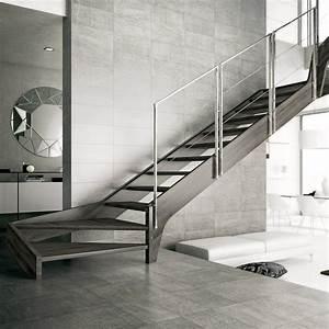 Escalier 4 Marches : fulmar escalier 2 4 tournant avec limon et marches en bois ~ Melissatoandfro.com Idées de Décoration