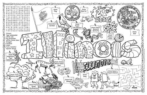 Illinois Symbols & Facts Funsheet