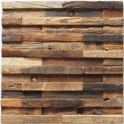 decorative rustic accent wall decor idea with reclaimed wood wall tiles and mosaic wood feature