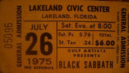 Sabotage Tour  Black Sabbath Online