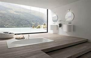 comment creer une salle de bain contemporaine 72 photos With salle de bain design avec boite ronde à décorer