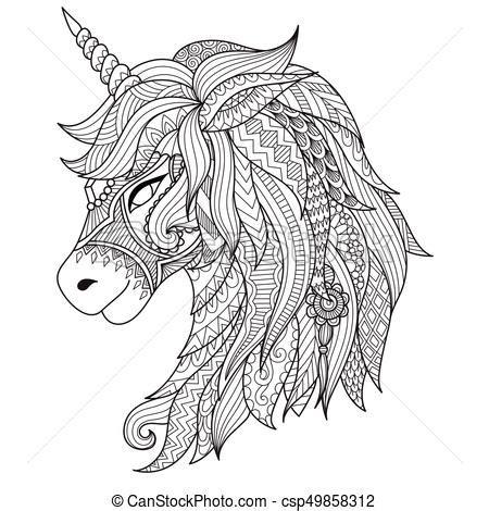 stile coloritura camicia scarabocchiare segno zentangle libro cavallo illustrazione