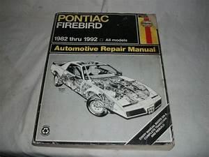 Find Haynes Repair Manual For Pontiac Firebird 1982