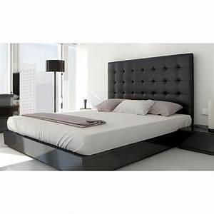 Tete Lit Capitonnée : t te de lit capitonn e 160 noir achat vente t te de ~ Premium-room.com Idées de Décoration