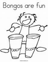 Coloring Fun Bongos Pages Music Change Template Twistynoodle sketch template