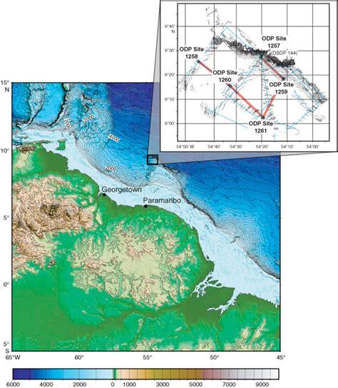 Figure F1 Site Map For Ocean Drilling Program (odp) Leg
