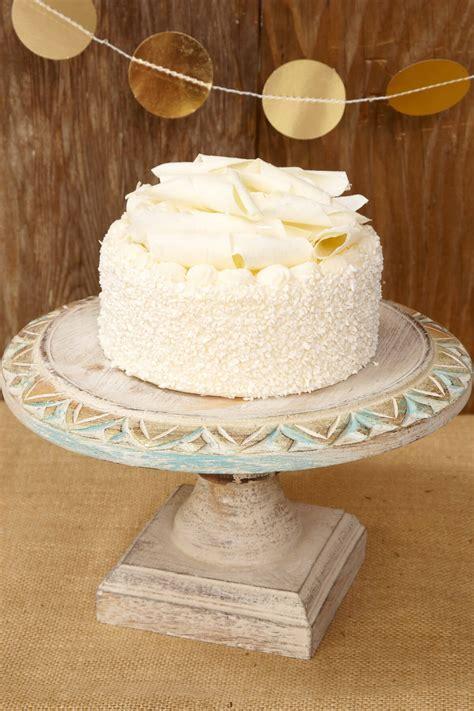 shabby chic cake stand wood cake stand white