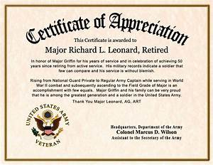 commemorative certificate template - military certificate of appreciation template template