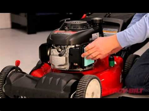 Push Mower Fuel Filter by How To Change The Air Filter Troy Bilt Walk Lawn