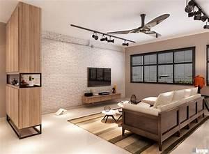 Inspiring Living Room Design Hdb Contemporary - Plan 3D