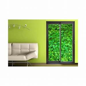 Mur Trompe L Oeil : d coration murale trompe l 39 oeil de baie vitr e et mur de v g tation ~ Melissatoandfro.com Idées de Décoration
