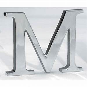 Kindwer silver aluminum letter m st croix trading signs for Letter m home decor