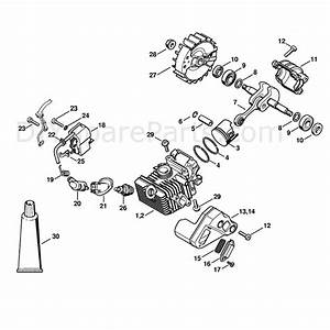 Stihl Ms 192 Chainsaw  Ms192tc  Parts Diagram  Cylinder