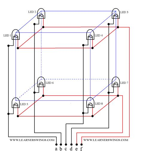 circuit diagram    led cube part    funny electronics