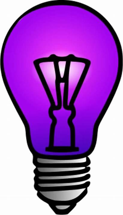 Cartoon Clipart Bulb Bulbs Lamp Flood Purple