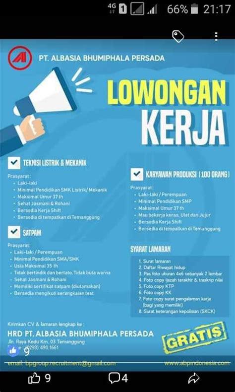 Sedangkan di pemerintah daerah terdiri dari 28 pemerintah provinsi dan 383 pemerintah kabupaten. Lowongan Pekerjaan Area Magelang Temanggung Wonosobo Ambarawa Semarang - Posts | Facebook