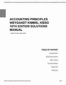 Accounting Principles 10th Edition Weygandt Kimmel Kieso
