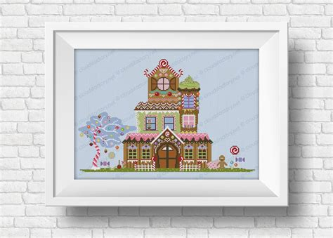 gingerbread house houses lanes cross stitch patterns products digital cross stitch