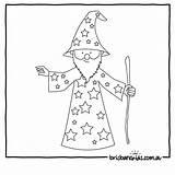 Colouring Wizard Printables Fun Brisbane sketch template