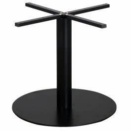 Plateau Rond Pour Table : pied de table de restaurant en acier noir base ronde ultra plat pour plateau rond grande ~ Teatrodelosmanantiales.com Idées de Décoration