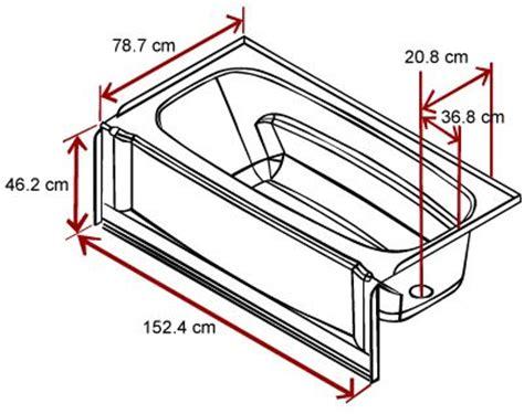 width of tub 1000 ideas about bathtub dimensions on