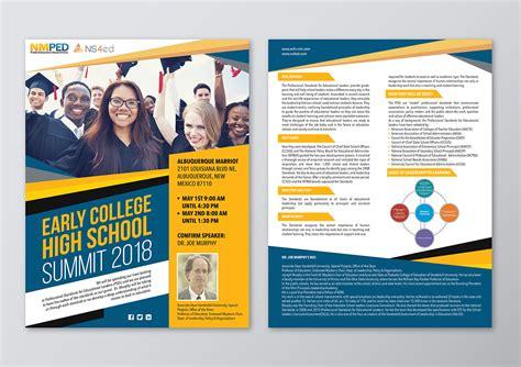 early college high school summit flyer  flyer designs