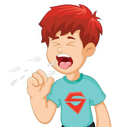 Cough Clipart Royalty Free Child Cough Clip Vector Images