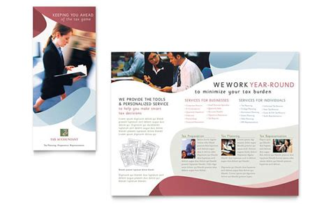 tax accounting services brochure template design