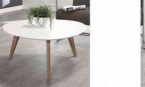 Table Basse Scandinave Blanche : table basse blanche scandinave freya ~ Teatrodelosmanantiales.com Idées de Décoration
