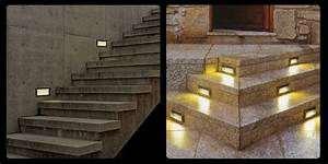 Pcs lot outdoor w led stairs recessed wall light