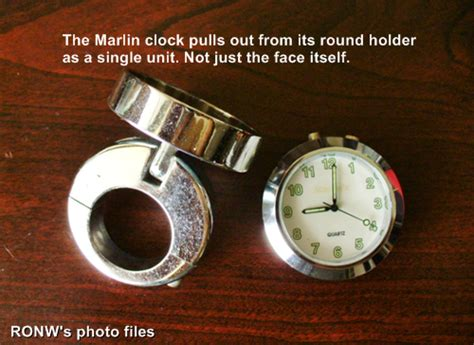 Stupid Question For Marlin Clock Owners