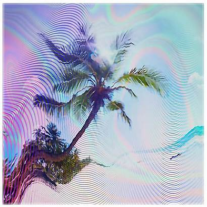 Glitch Nature Holographic Vhs Background Picsart Wal