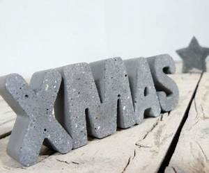 Große Buchstaben Deko : beton deko f r weihnachten diy ideen und tipps ~ Sanjose-hotels-ca.com Haus und Dekorationen