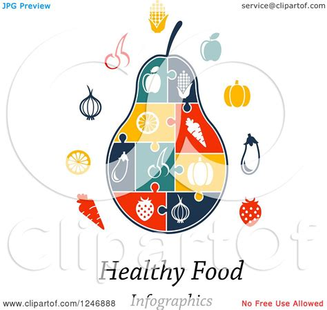 puzzle cuisine clipart of a puzzle pear infographics diagram with