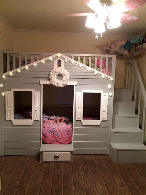 ana white  cottage loft bed revised diy