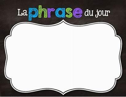 Jour Vicky Phrase Jardin Karine Classe French