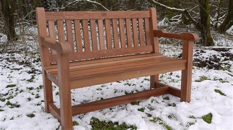 Sitzbank Garten Holz by Hardwood Garden Bench Sapele The Wooden Workshop