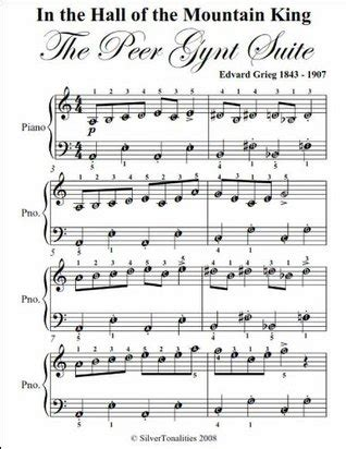Permission granted for instruction, public performance, or just for fun. In the Hall of the Mountain King Grieg Easy Piano Sheet Music by Edvard Grieg
