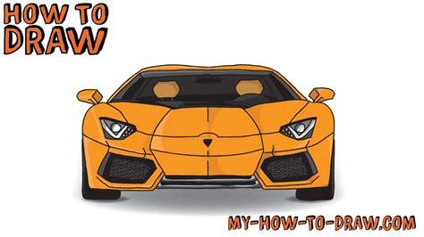 car lamborghini drawing how to draw a car how to draw a lamborghini aventador