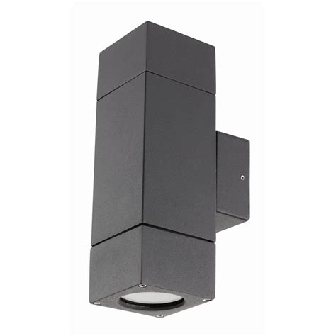 brilliant ormond charcoal up exterior wall light
